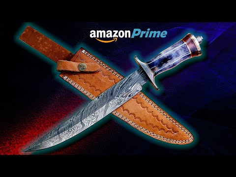 $34.99 Damascus Bowie Knife?