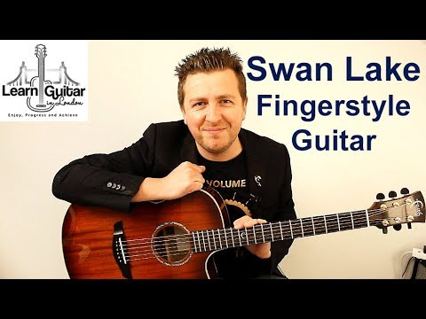 Swan Lake - Guitar Tutorial - Tchaikovsky - Fingerstyle - TAB - Drue James