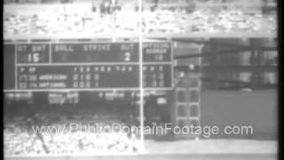 1966 All Star Baseball Game archival footage - www.PublicDomainFootage.com