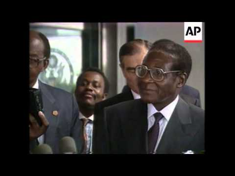 Robert Mugabe Meets George Bush In Washington