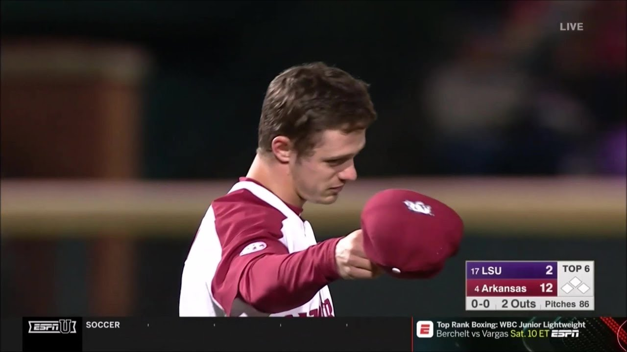 4 Arkansas vs #17 LSU Game 1 2019 - YouTube