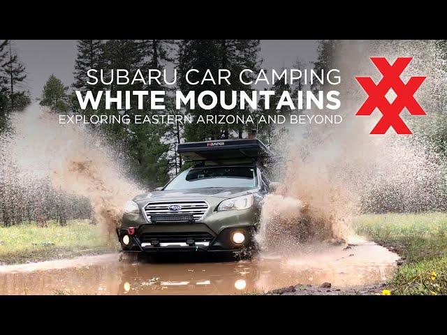 Car Camping White Mountains of Arizona with Ikamper Skycamp and Subaru Outback