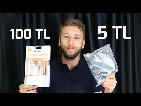 5 TL vs 100 TL HDMI KABLOSU ARADAK FARKA DEYOR MU