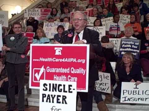 Pennsylvanians Rally for Single Payer Healthcare Jerry Policoff, event organizer.