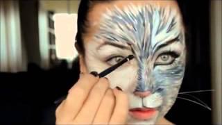 Как сделать макияж кошки. Макияж на Хеллоуин
