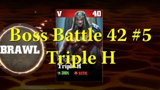 WWE Immortals - Gameplay Boss Battle 42 #5 Triple H King of Kings