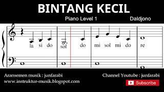 not balok bintang kecil - tutorial piano grade 1 - notasi lagu anak - doremi solmisasi