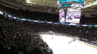 San Jose Sharks 3-30-2013 SJ goal 1