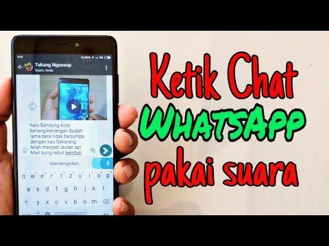 Cara Ketik Chat WhatsApp Dengan Suara