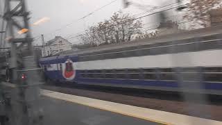 TGV6108列車でパリ郊外をゆく