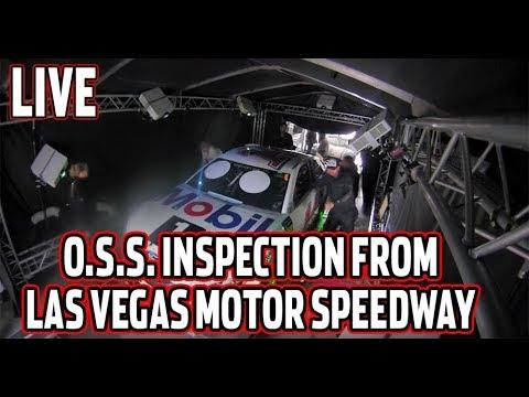 live sunday nascar oss inspection from las vegas motor speedway youtube. Black Bedroom Furniture Sets. Home Design Ideas