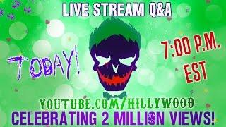 LIVE Q&A - Suicide Squad Parody Chat