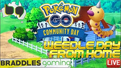 WEEDLE COMMUNITY DAY FROM HOME 🔴 Live Stream - Pokemon Go