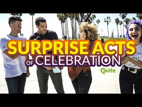 Surprise Acts of Celebration | Evite's 20th B-day 🎁