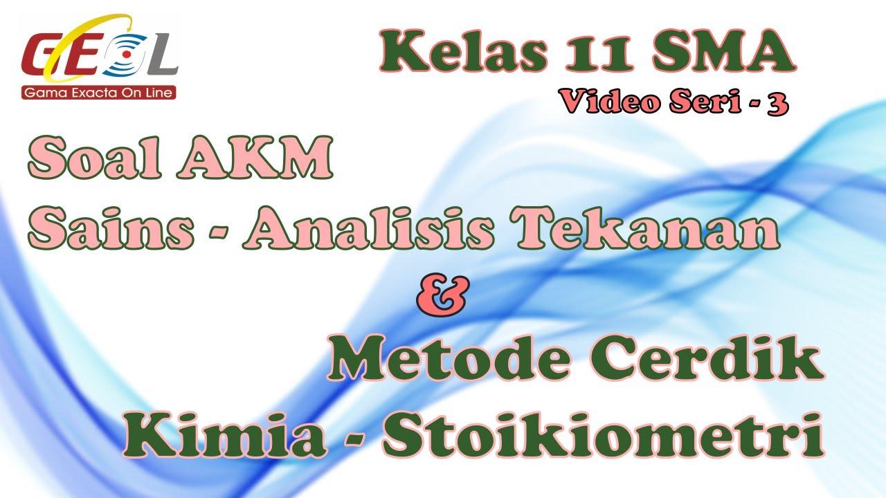 Pembahasan Soal Akm Sains Kimia Stoikiometri Sma Kelas 11 3 Youtube