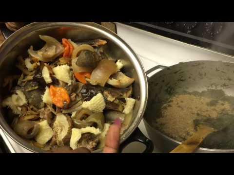 How to cook eru( okazi)
