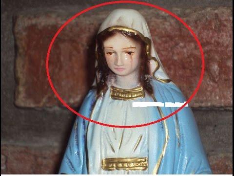 INCREIBLE IMAGEN DE LA VIRGEN MARIA MUEVE CABEZA EN SANTO ROSARIO