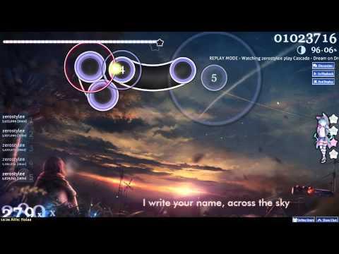 OSU! Dream On Dreamer (Nightcore) - Cascada   Road to Asian [HARD]