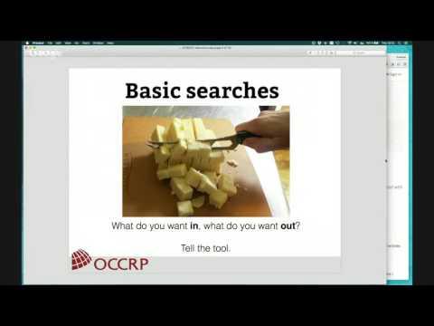OCCRP Data Search - Webinar