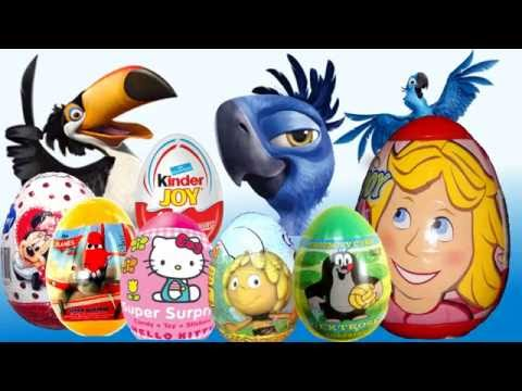 Kinder Surprise Kinder Joy Rio 2  Surprise Eggs Disney Pixar Cars Planes Mickey Mouse