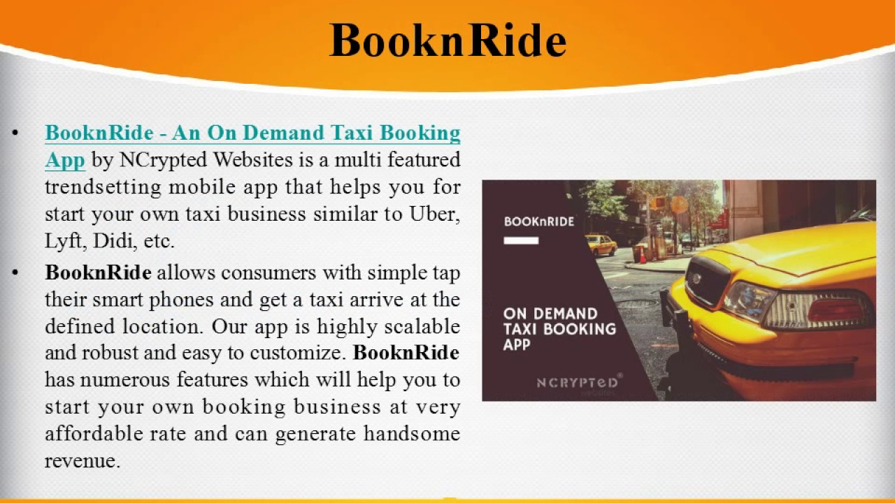 BooknRide: Best On Demand Taxi Booking App