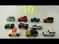 Zahlen lernen und Geländewagen zählen  - mit Autos von Hot Wheels und Matchbox