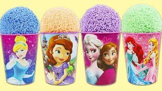 Disney Princess Play Foam Surprise Cups with Sofia the First, Queen Elsa, & More!