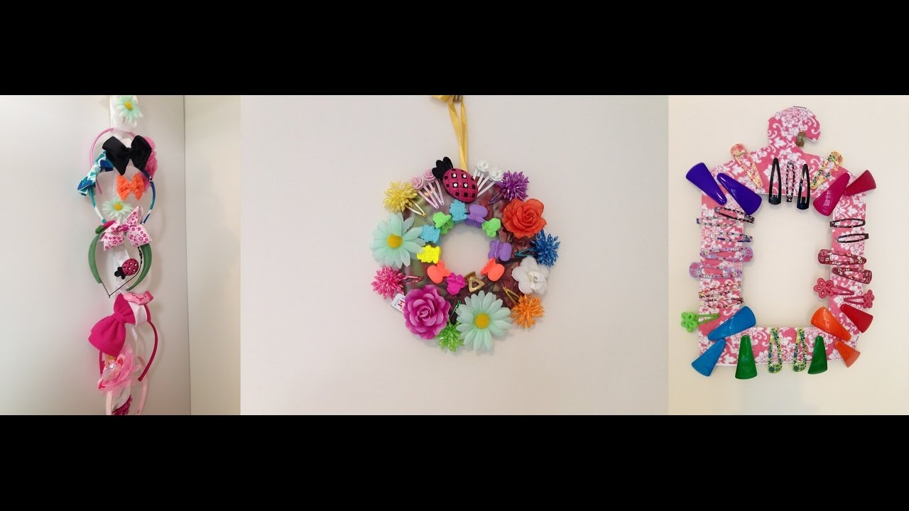 Hairclip Organizer Hair Bows Hairband Holder Kids Girls Wall Hanging Accessories