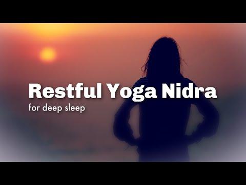 FALL ASLEEP WITH YOGA NIDRA  : Guided Meditation for Deep Restful Sleep