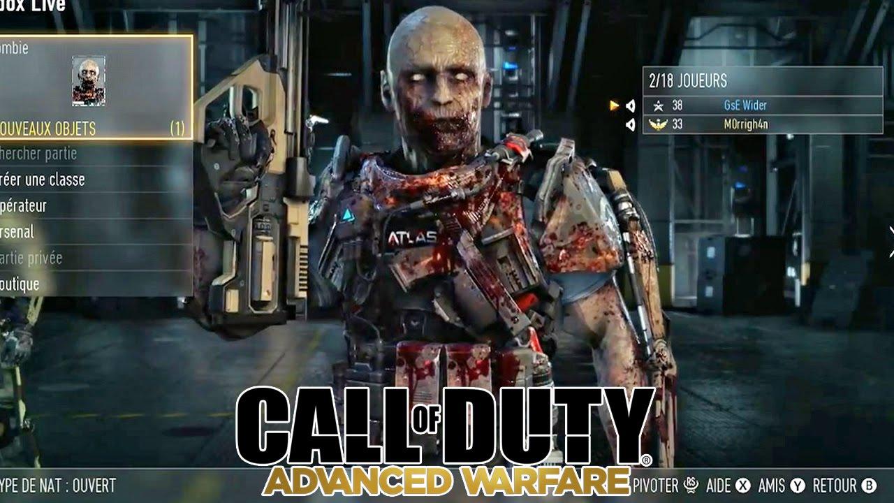 "... Tuto: ""Avoir un Skin de Zombie"" (Call of duty AW Zombies) - YouTube"
