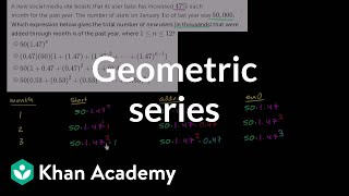 Constructing a geometric series for new users