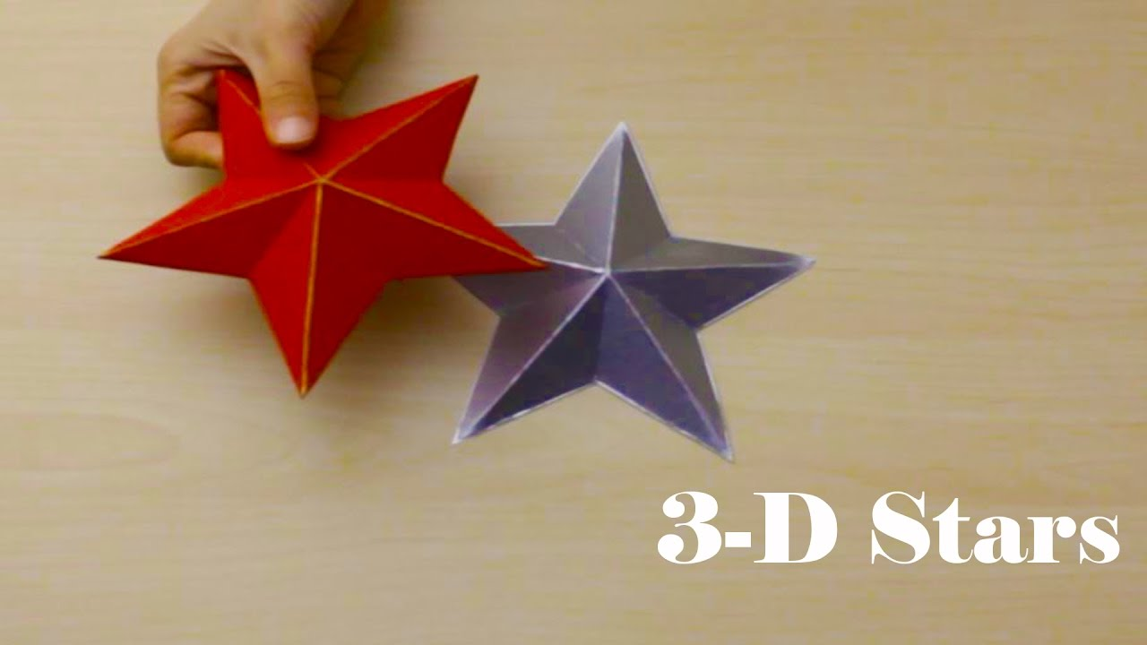 3d decorative star with cardboard 6th day of christmas decor - Cardboard Christmas Decorations