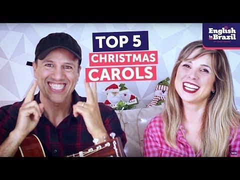 TOP 5 CHRISTMAS CAROLS | Músicas de Natal em Inglês
