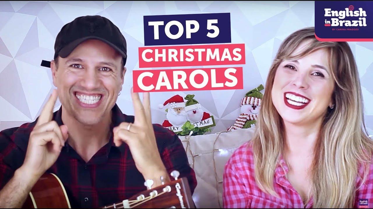 Top 5 Christmas Carols Músicas De Natal Em Inglês Youtube