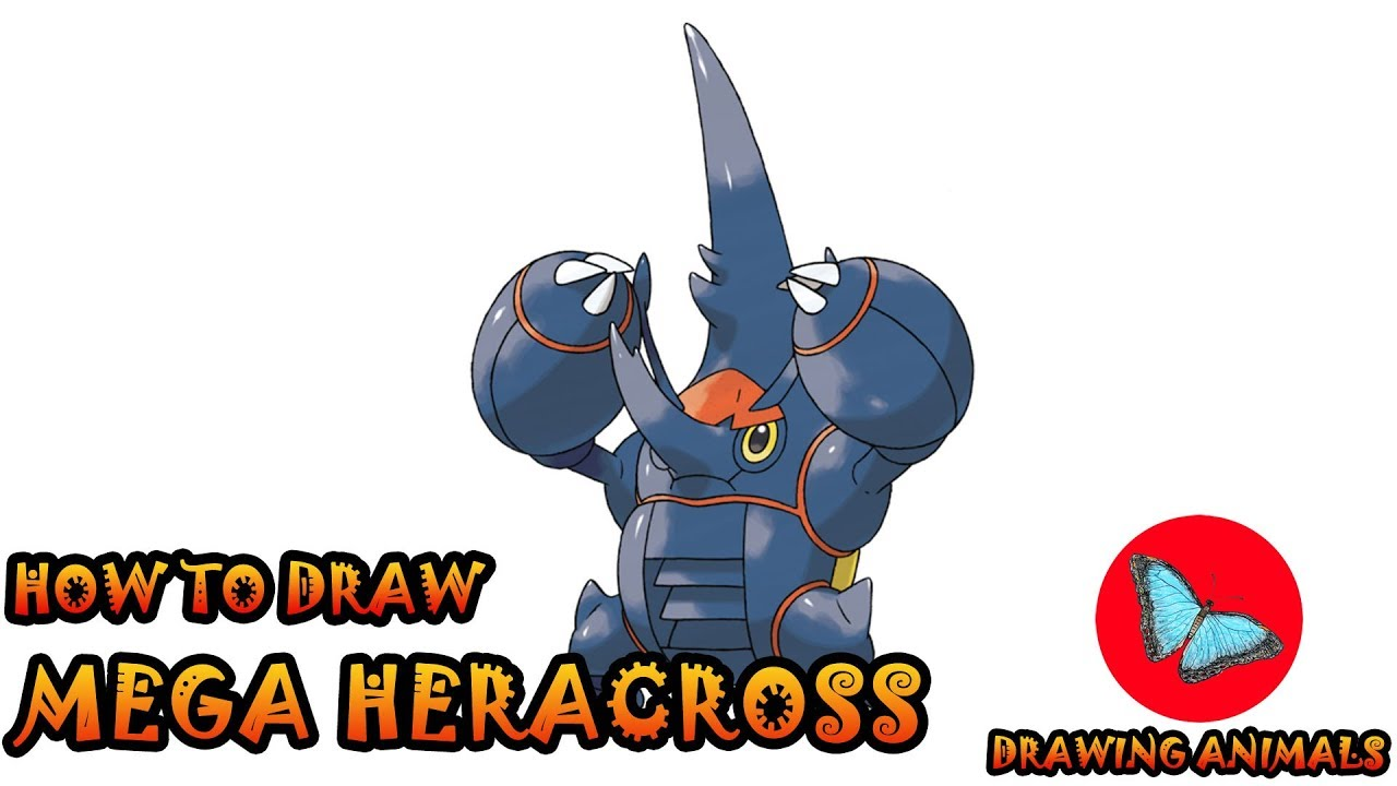 How To Draw Mega Heracross Pokemon   Coloring and Drawing For Kids