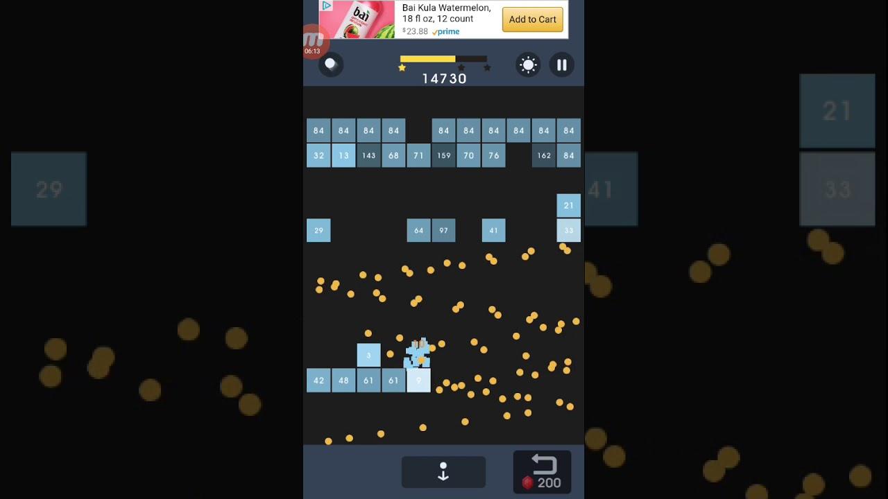 Bricks Breaker Puzzle Level 350  3 stars  No powerups or Rubies