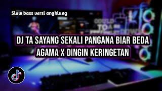 Download DJ TA SAYANG SEKALI PANGANA BIAR BEDA AGAMA X DINGIN KERINGETAN. SLOW BASS VIRAL TIK TOK🔥