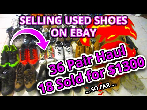 How To Sell USED SHOES On eBay Beginner BEST WAY CLEAN PACKAGE Nike Jordans Free Bolo List Sneakers