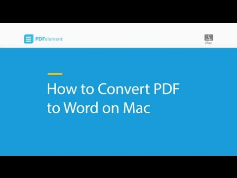 How to Convert PDF to Word on Mac (compatible with macOS 10 14 Mojave)