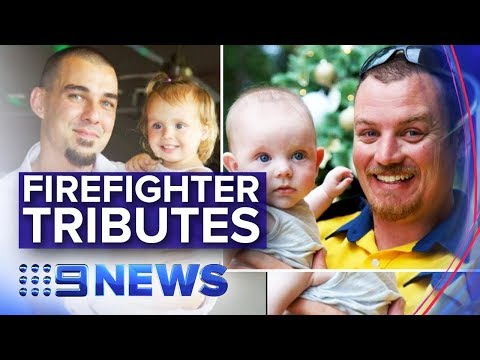 NSW Fires: Emotional Tributes For Dead Sydney Firefighter Dads | Nine News Australia