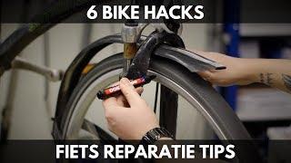 6 bike hacks - Handige fiets reparatie tips