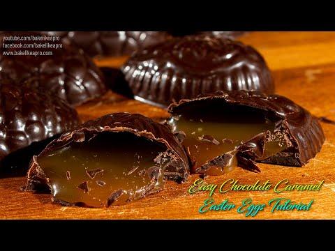 Easy chocolate caramel Easter Eggs Tutorial