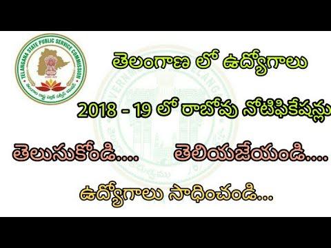 TSPSC Telangana Jobs Notifications in 2018 - 19  | Police , Revenue , Group1 Jobs