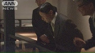 皇太子さま 特別史跡「キトラ古墳」の壁画を見学(14/05/02)