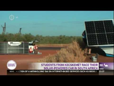 Students from Kecskemét race their solar powered car is South Africa