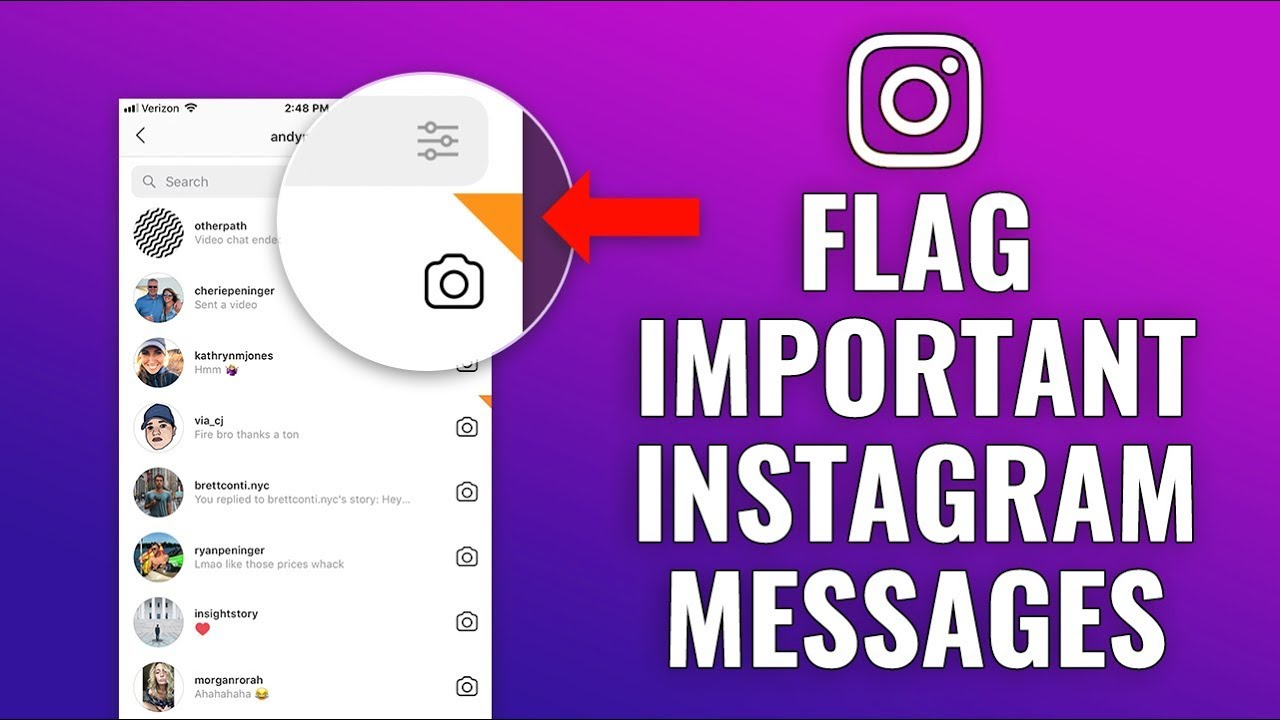 How to Flag Important Instagram Messages