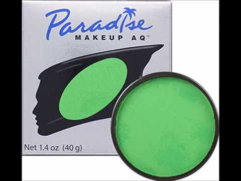 Mehron Makeup Paradise Aq Face Body Paint Amazon Green Tropical Series 40gm