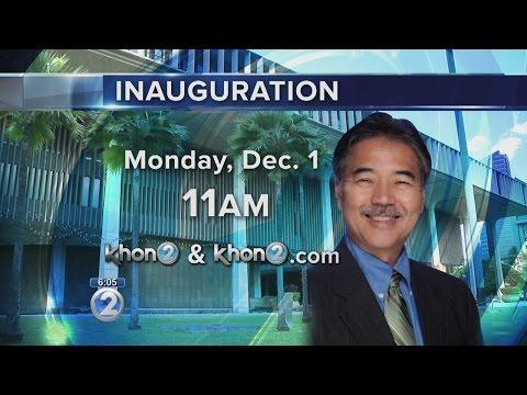 Governor-elect David Ige's inauguration