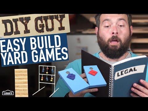 DIY Guy: How To Build Yard Games!
