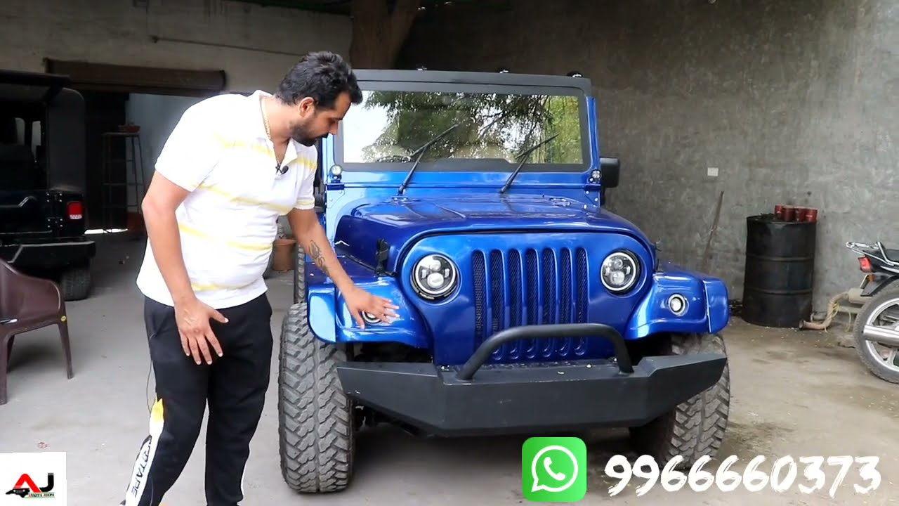 Modified 4x4 Thar with Wrangler hard top by Ankita Jeeps